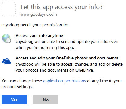 Screenshot of instructions for MS OneDrive